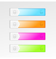 Mobile device interface sliding elements vector image