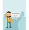 Employee to entrepreneur vector image