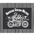 Skeleton Rider Motorcycle vector image