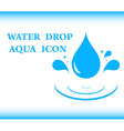 water drop aqua icon vector image