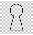 Keyhole sign Line icon vector image