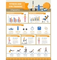 Fitness And Gym Training Infographics vector image vector image