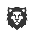 Lion Head Logo on White Background vector image