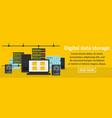 digital data storage banner horizontal concept vector image