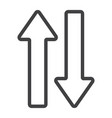 direction arrows line icon web and mobile vector image