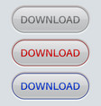 download button gray oval web icons vector image