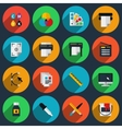 Flat color printing icons vector image