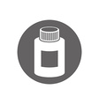 Medical bottle icon isolated vector image