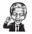 nelson mandela cartoon caricature vector image