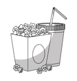 pop corn icon vector image