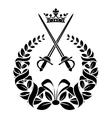 Royal laurel wreath with swords vector image