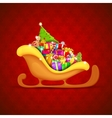 Sledge full of Christmas Gifts vector image