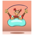 The monkey - a symbol of new year plays sports vector image