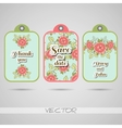 Labels Red Flowers vector image