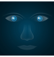 glass eyes vector image