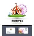circus logo design template carousel or fair icon vector image