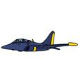 Dark blue jet aircraft vector image