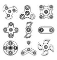 fidget spinner stress relief toys silhouette of vector image