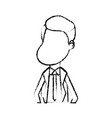 figure happy man with hairstyle and elegant suit vector image