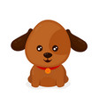 funny happy cute smiling dog puppy vector image