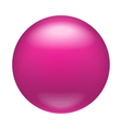 Glossy pink badge magnet icon realistic style vector image