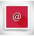Icon of email for web and mobile applications vector image