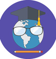 Online education concept Flat design Icon in vector image