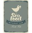 seafood restaurant menu vector image