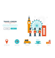 Travel London Concept vector image