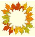 Maple Leaf Frame vector image vector image