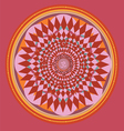Red color mandala vector image