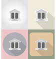 business and finance flat icons 14 vector image