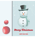 Christmas snow man invite vector image vector image