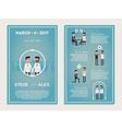 Gay Wedding Invitation Cards vector image