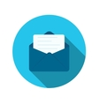 Flat Design Concept Email Send Icon With Lon vector image
