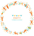 Party People Wreath vector image