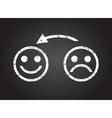 happy faces vector image vector image