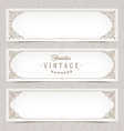 Ornate banners vector image