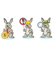 Light Green Bunny with money vector image