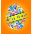 Easter Symbol Egg and Spring flower 4 vector image