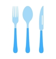 Cutlery set fork knife and spoon vector image