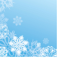 christmas background with snowflakes on blue vector image