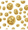 gbp seamless pattern gold coins isolated vector image