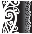 Maori tattoo pattern vector image