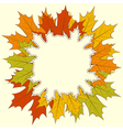 Maple Leaf Frame vector image