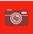 flat icon on background camera vector image vector image