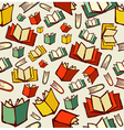 Back to school education cartoon books seamless vector image vector image