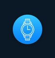 Watch icon linear style vector image