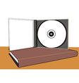 cd and book vector image