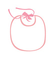 Pink baby bib vector image